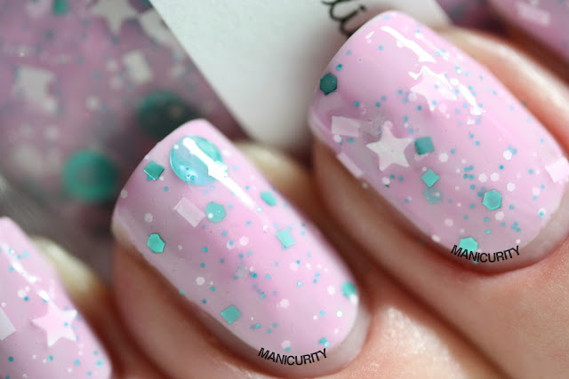 Manicurity | Trelly's M.I.S.C Polish Summer 2013 Collection - Stay Sweet over China Glaze Light as Air