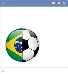 Brazil football emoticon