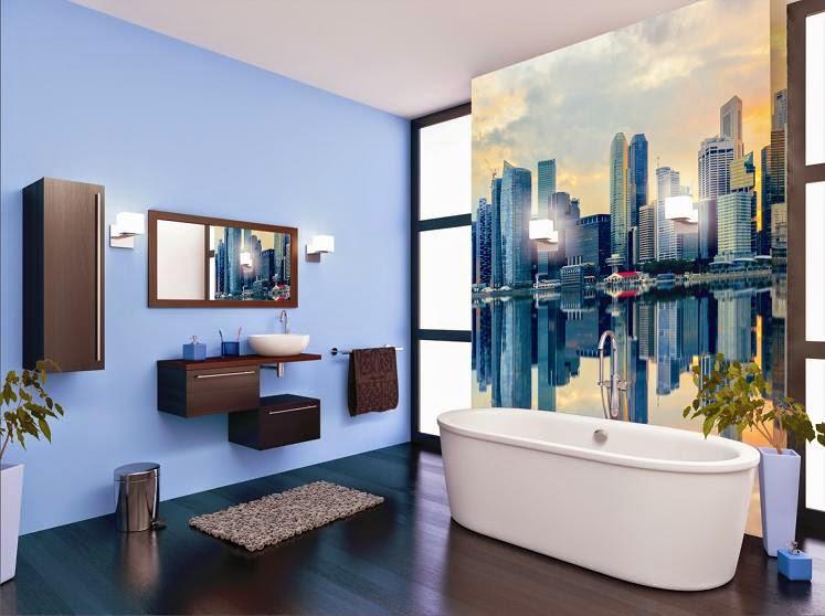 Decoracion Baño Celeste ~ Dikidu.com