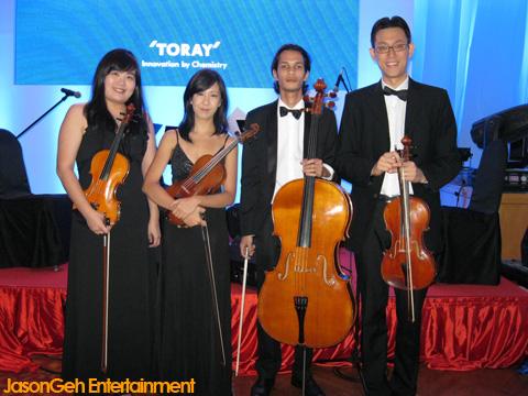 Lights String Quartet : Jason Geh - Live Jazz Band for Hire in Kuala Lumpur, Malaysia: String Quartet Toray 40th ...