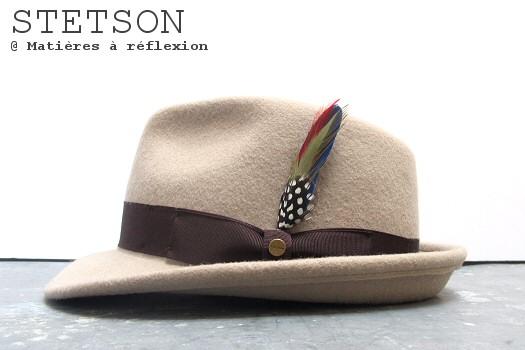 Chapeau feutre beige Stetson chapeau Homme Elkader