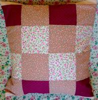 poszewka, patchworak różowa