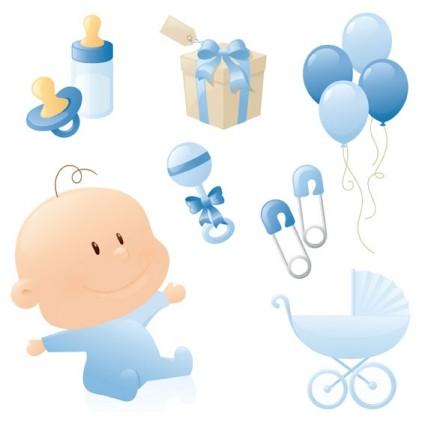 Elementos vector de bebe niño