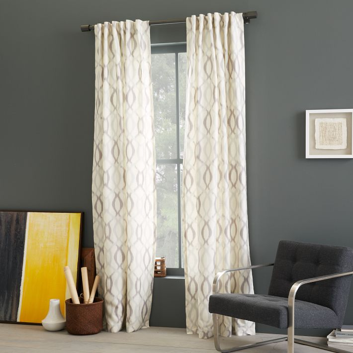 The collected interior week end shopping patterned curtain panels