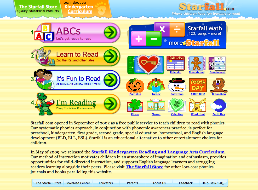 Elementary Teaching Fun: Starfall