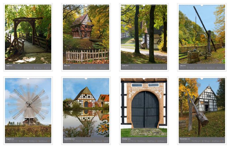 Kalender, Calvendo, Detmold, Freilichtmuseum, Deutschland, Museum