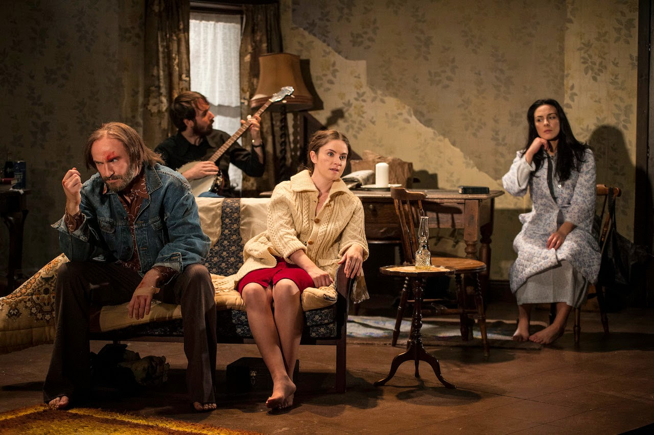 Cast of Pentecost L to R: Will Irvine, Paul Mallon, Judith Roddy and Roisin Gallagher in Stewart Parker's play Pentecost at the Lyric Theatre until 18 Oct. To book tel: 028 90381081 or www.lyrictheatre.co.uk Pic Credit: Steffan Hill