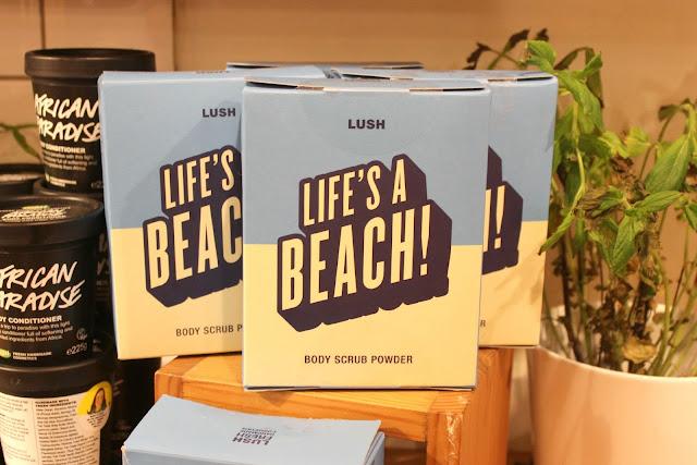New Life's a Beach! Body Scrub Powder at Lush Nottingham