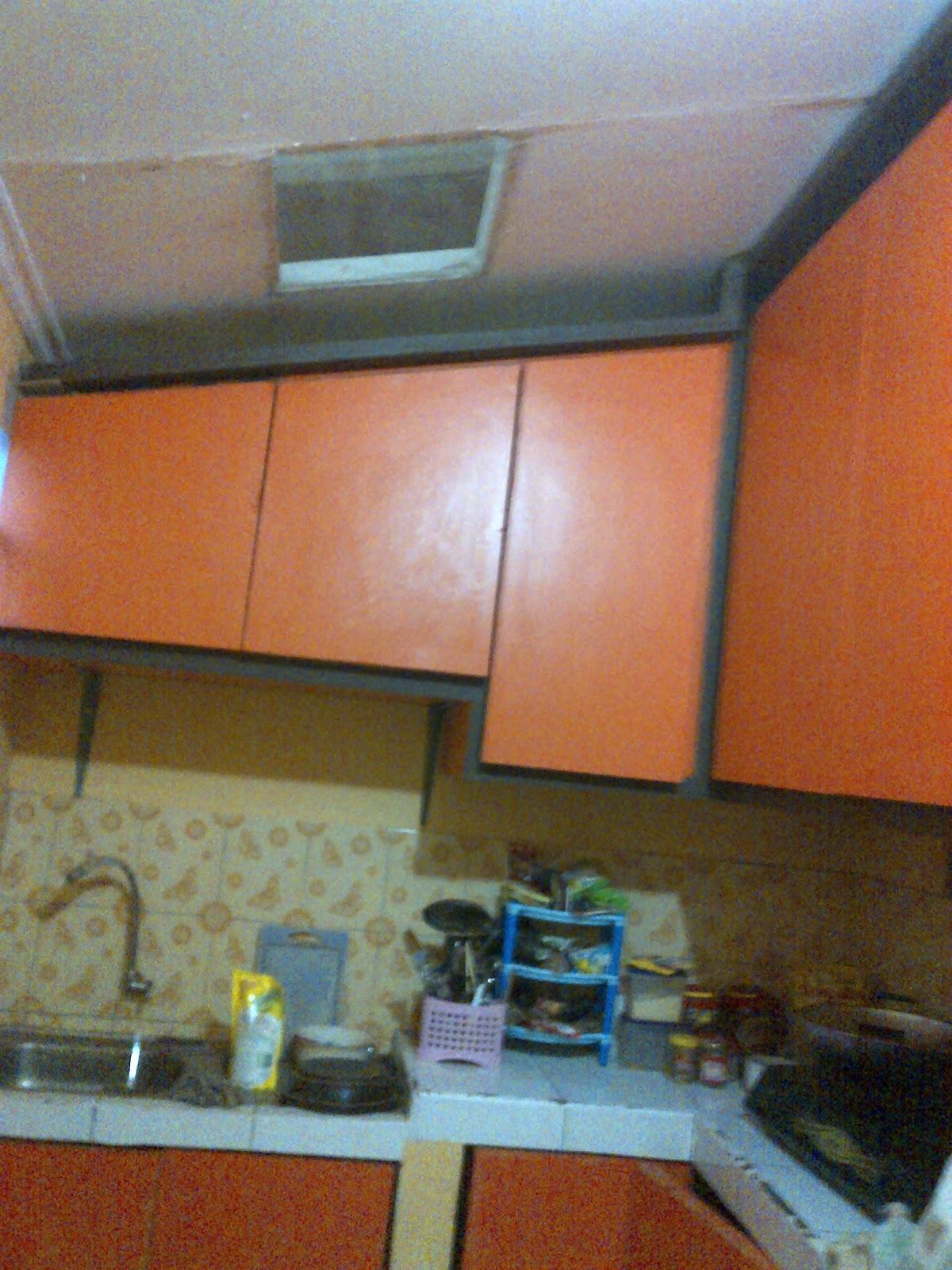 Pemasangan kitchen set rangka besi bengkel las listrik bandung