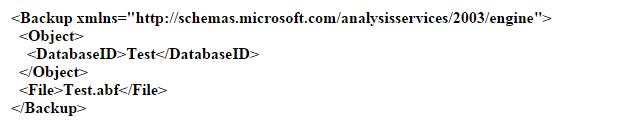 SSAS Cube Backup Code