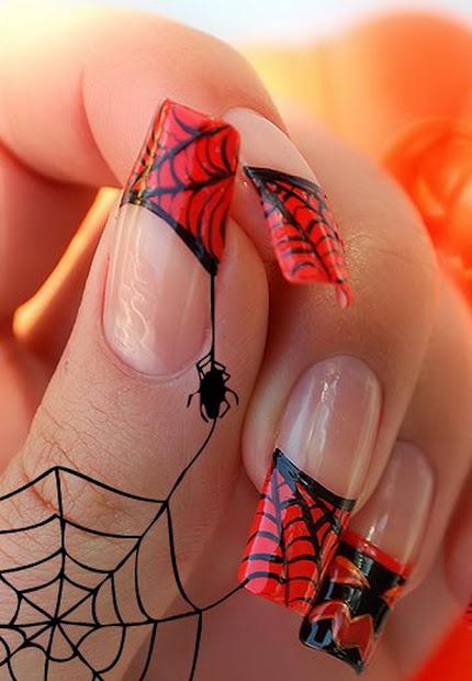 sabaya style crazy halloween nail