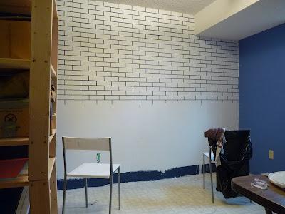 d i y d e s i g n how to make a faux exposed brick wall. Black Bedroom Furniture Sets. Home Design Ideas