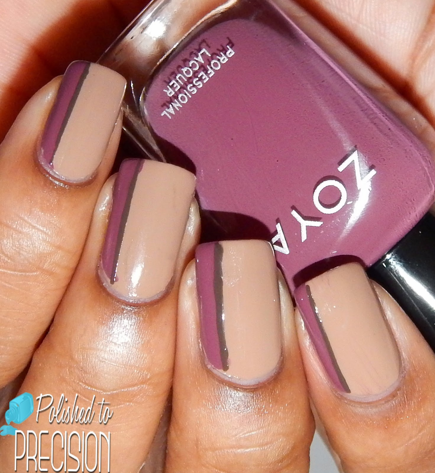 Zoya Naturel Deux Sideways French Manicure