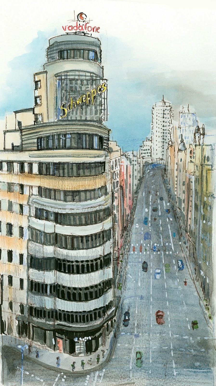 Urban sketchers spain el mundo dibujo a dibujo un - Laminas antonio lopez ...