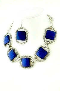 Electric Blue Statement Necklace
