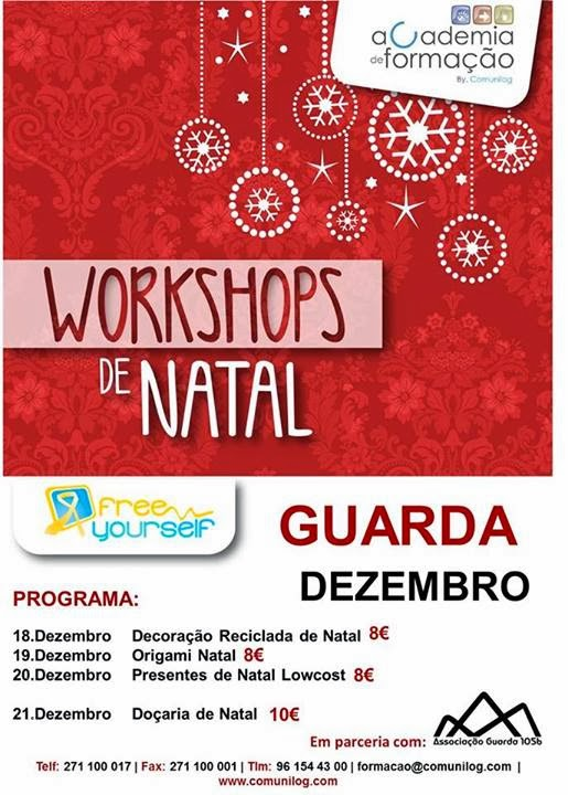Workshops de Natal na Guarda