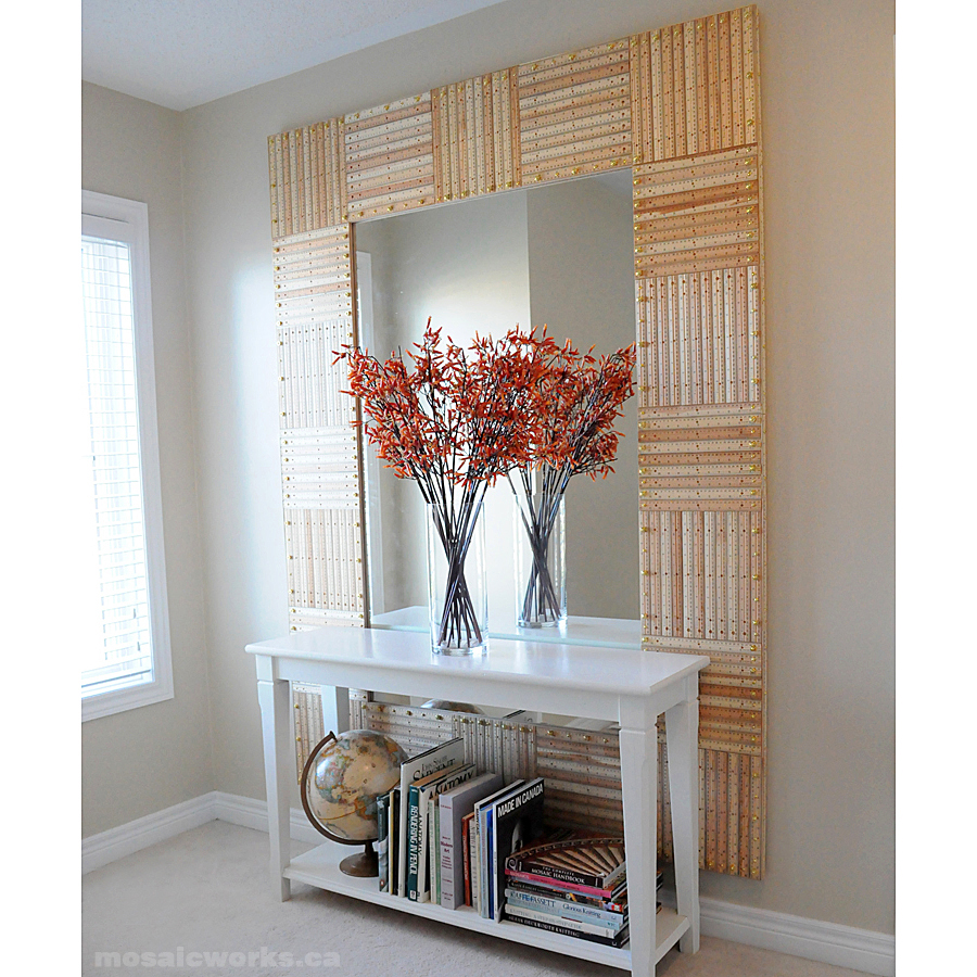 Ruler Mirror | 30 Amazing DIY Mirrors