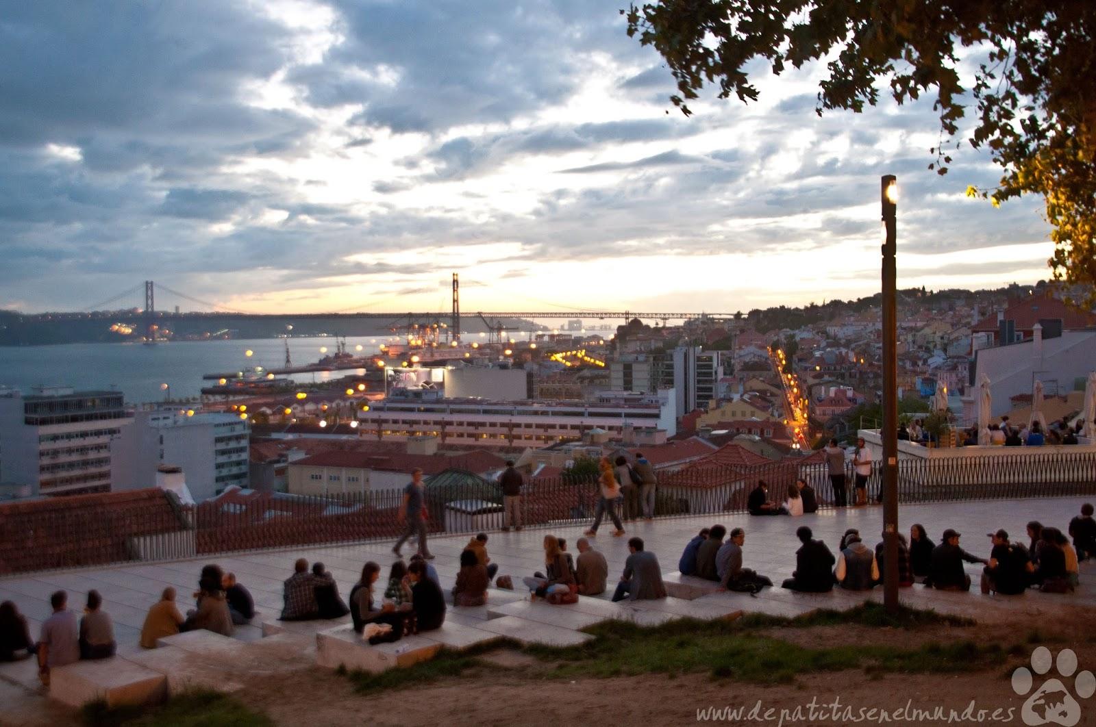 Mirador de Santa Catarina en Lisboa