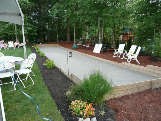 Backyard Bocce Ball Court Design : Elk and Ella  Backyard Bowling Alley