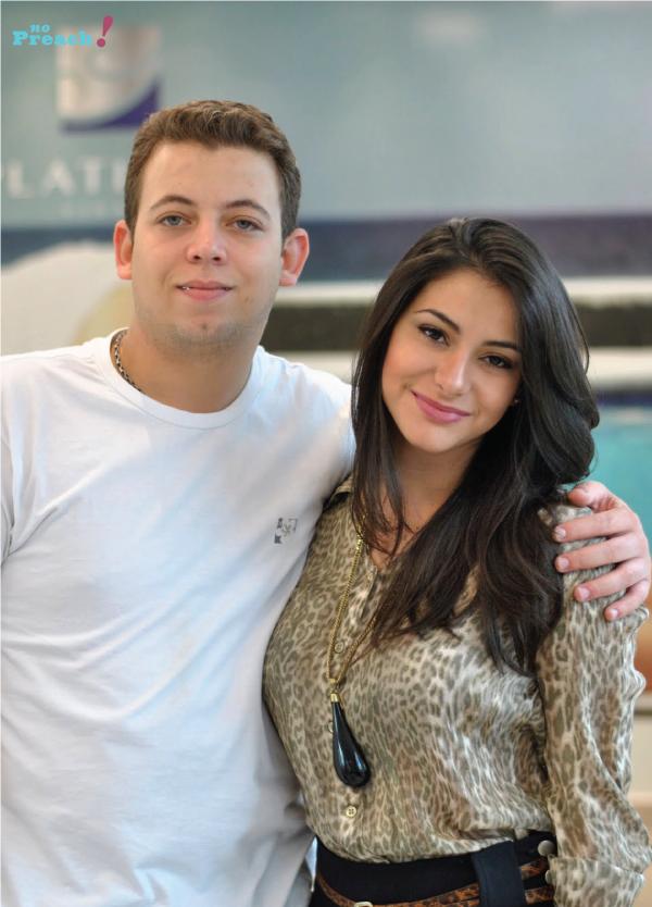 Bárbara Urias e Hugo Martins - salão platinum visage