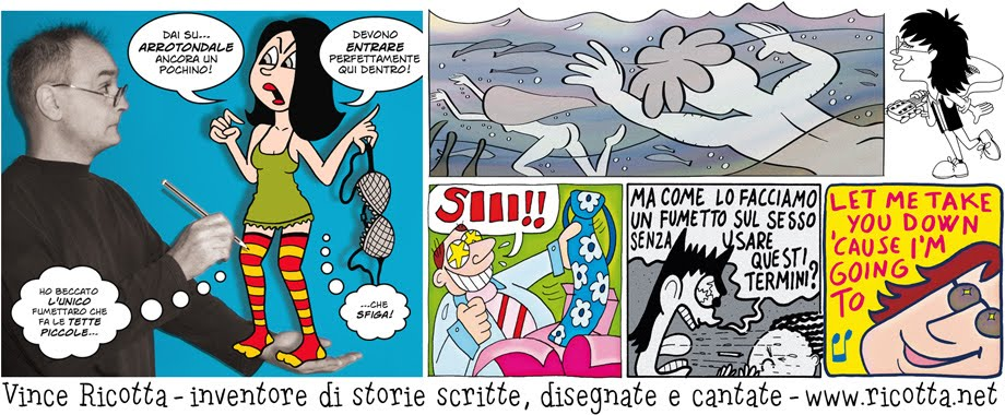 Vince Ricotta - Fumetti e Canzoni