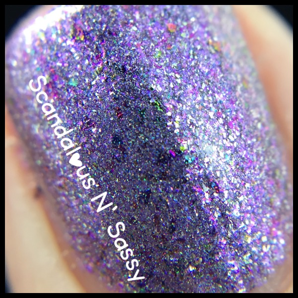 Darling Diva Polish My M'Effen Lightsaber is Purple macro