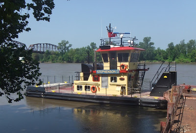The Stephenson II on the Missouri River at Glasgow