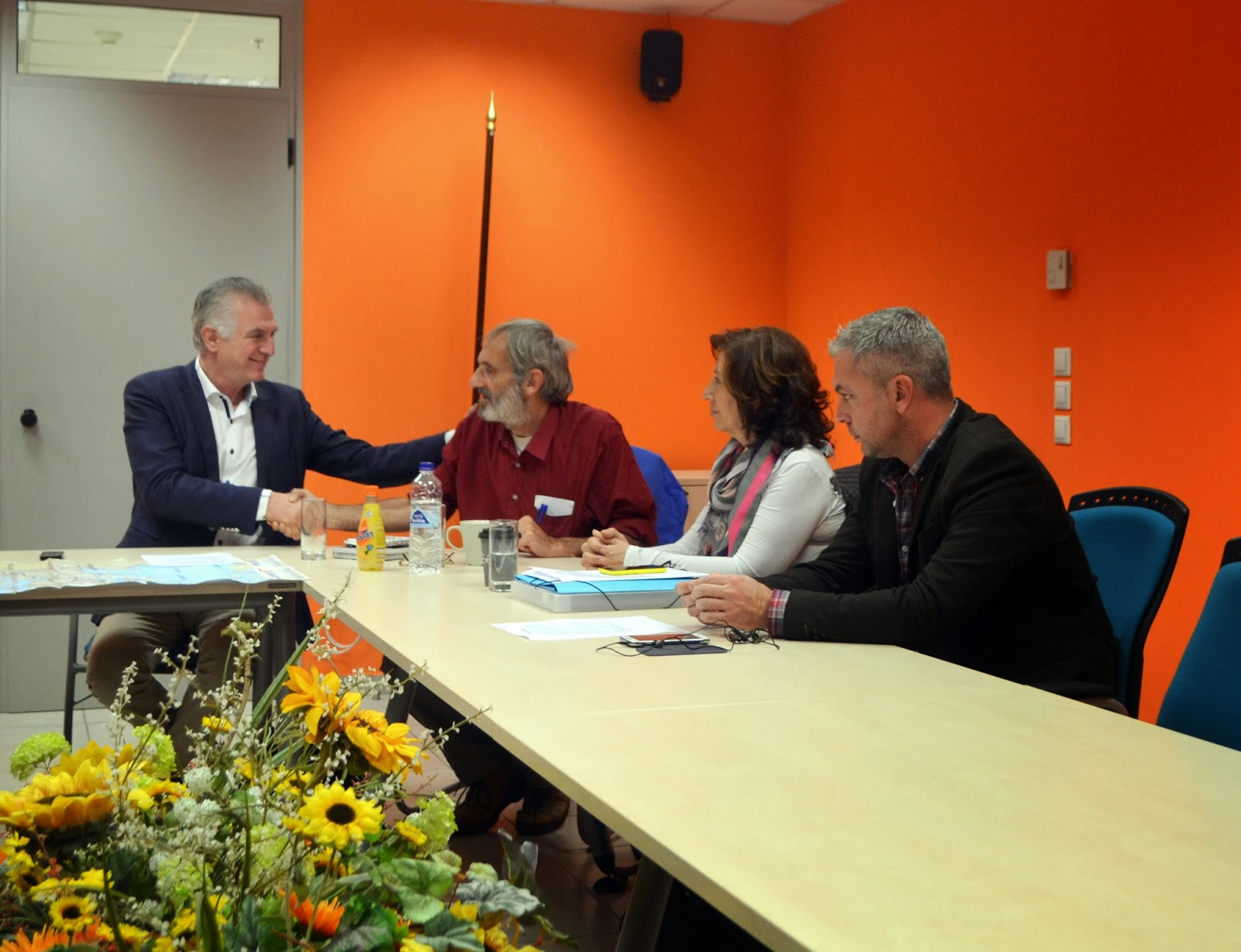 Ο Δήμαρχος Ανδρέας Παχατουρίδης συναντήθηκε με τον Γερμανό Ακτιβιστή - Καθηγητή Στέφαν Μακ Νηλ