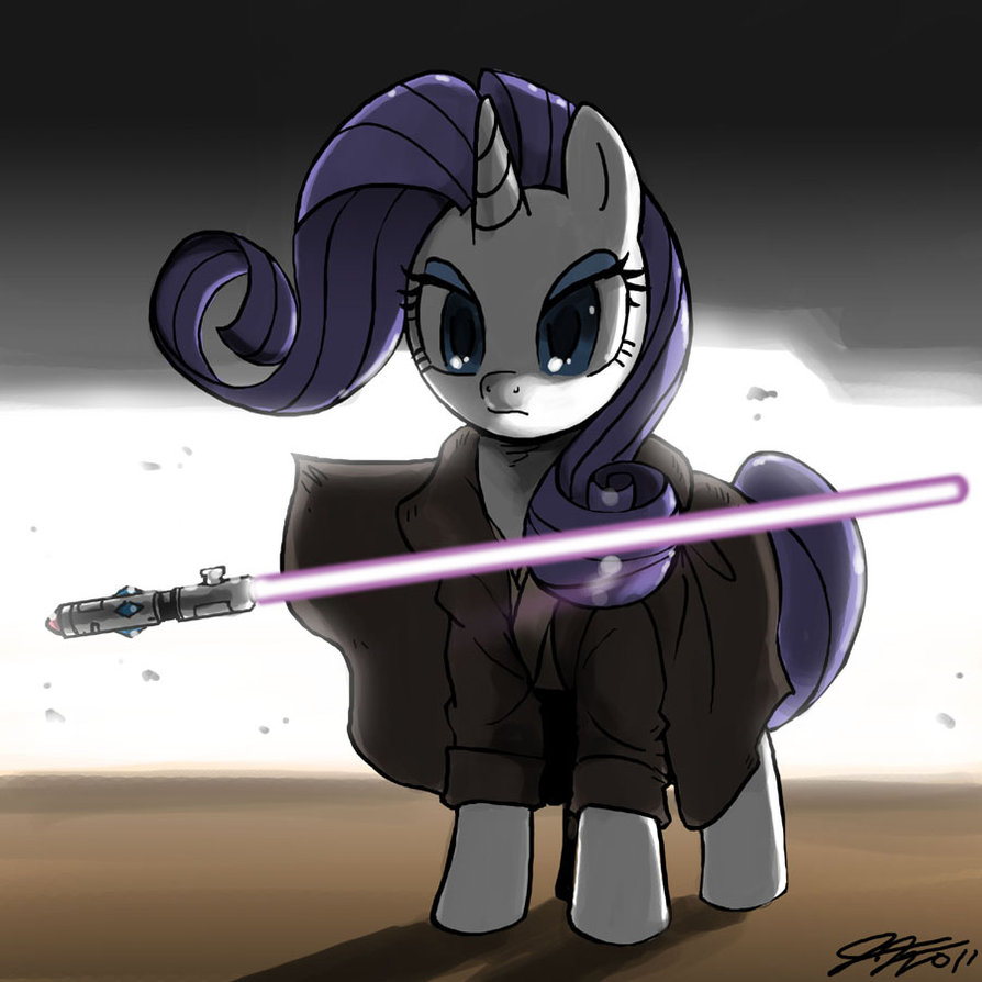 Terminate the ponys - Page 2 Jedi_rarity_by_johnjoseco-d3edeqj