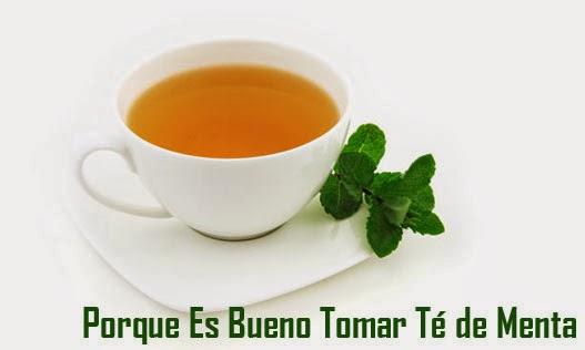 Porque es bueno tomar té de menta