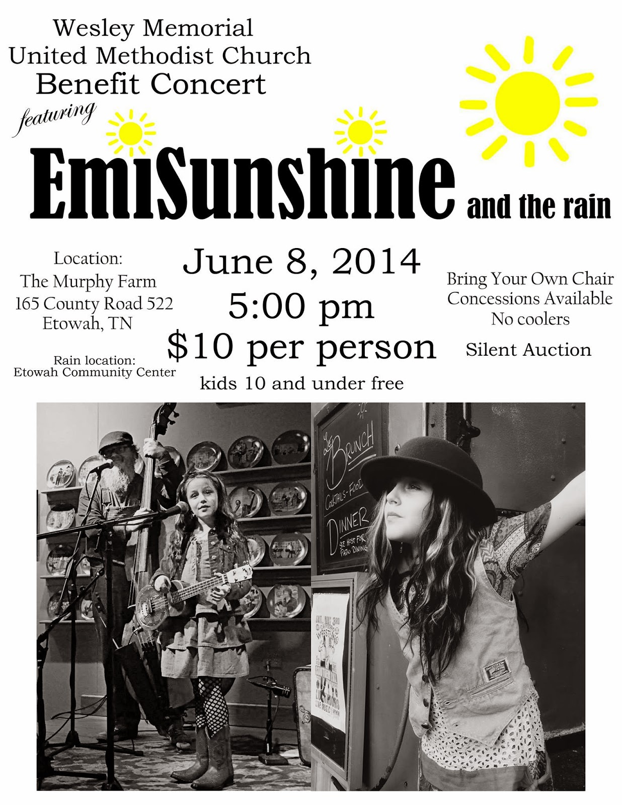 Youve Been Reviewed EmiSunshine gives concert at Murphy Farm in Etowah Tennessee