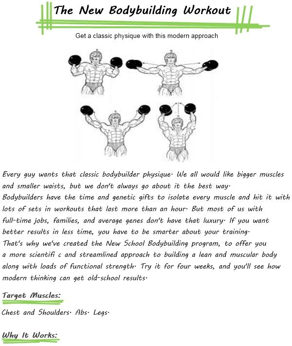 bodybuilding workout schedule for menBodybuilding Exercises For Men