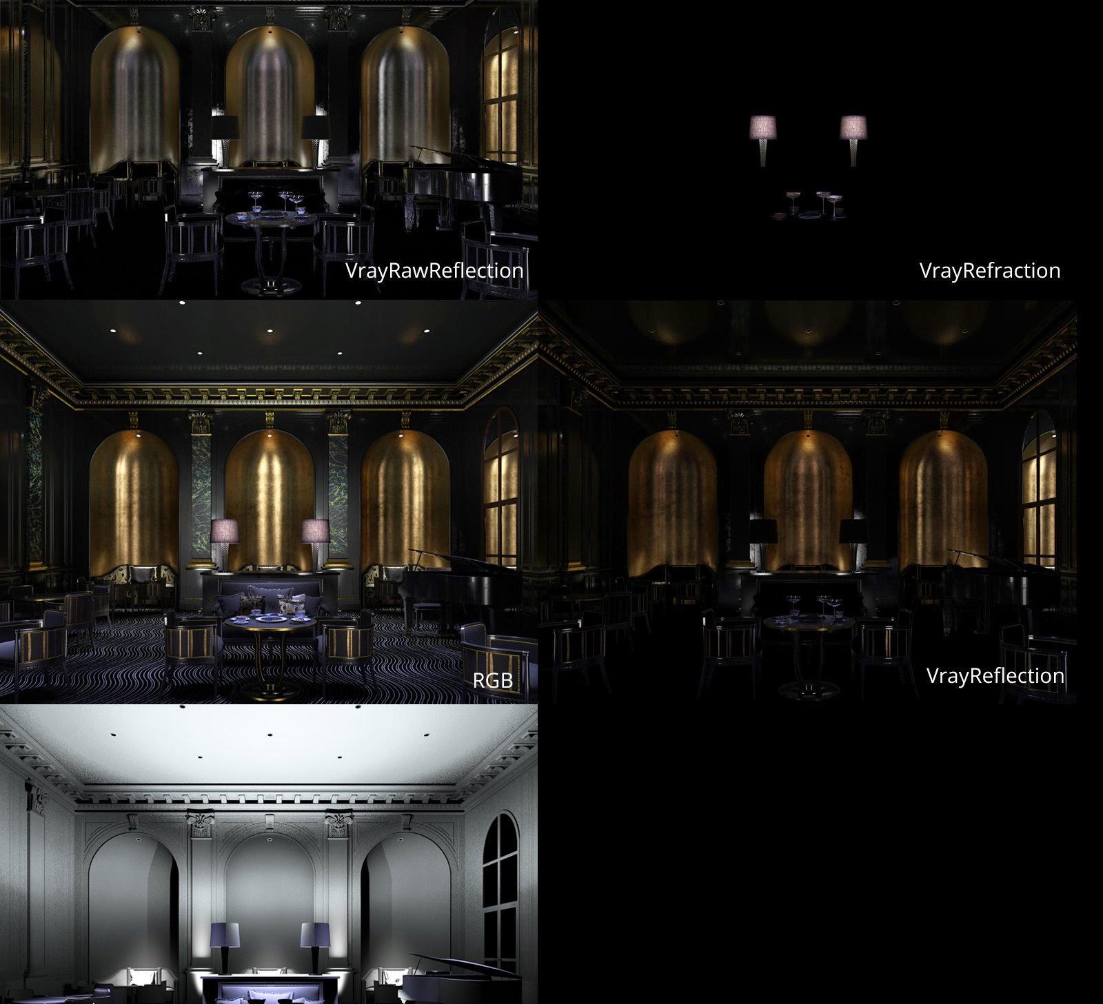 making of golden luxury art deco interior cg tutorial. Black Bedroom Furniture Sets. Home Design Ideas