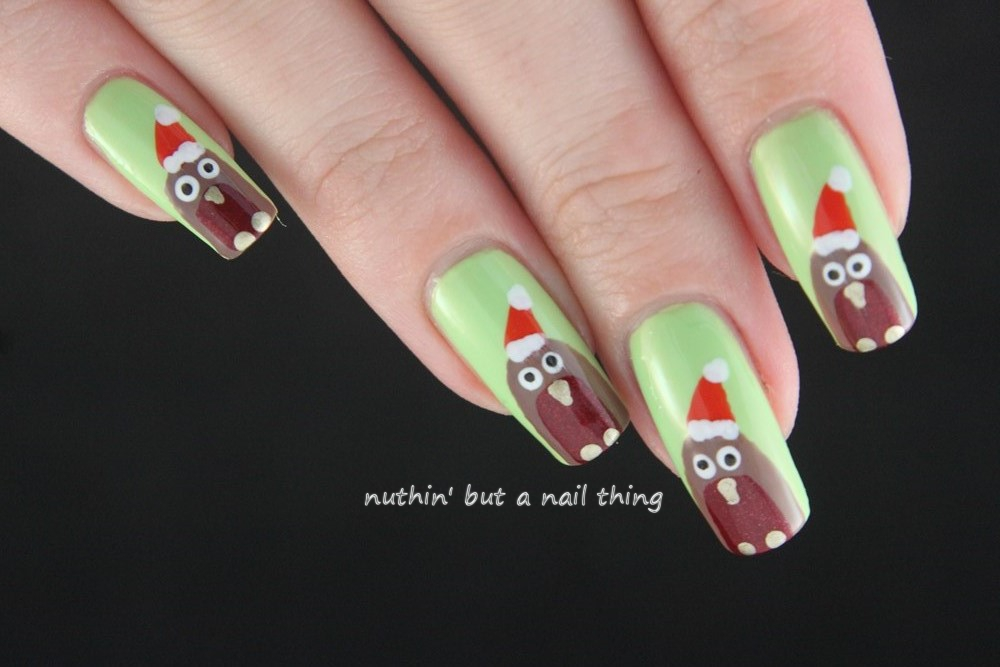 Nuthin But A Nail Thing Christmas Robin Tutorial