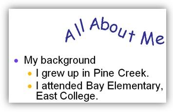 Gambar:  contoh animasi teks di powerpoint