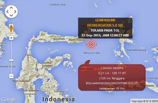 gempa terkini 12 september 2014