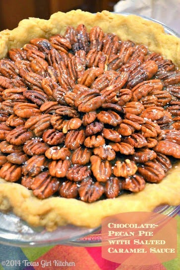 Texas Girl Kitchen: Sweet Memories {Chocolate Pecan Pie with Salted ...