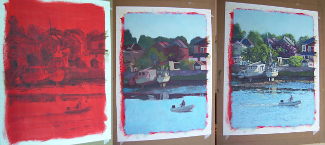 southampton boats at riverside park art in progress