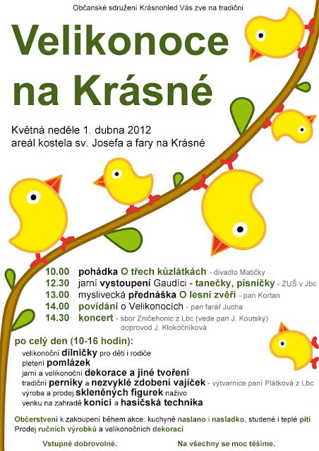 Velikonoce na Krásné 2012 - plakát
