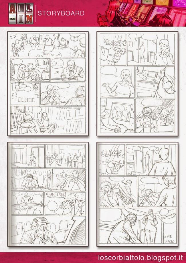 all in mirko treccani vincitore pazzi per il fumetto 2014 storyboard layout comic pages tavole studio