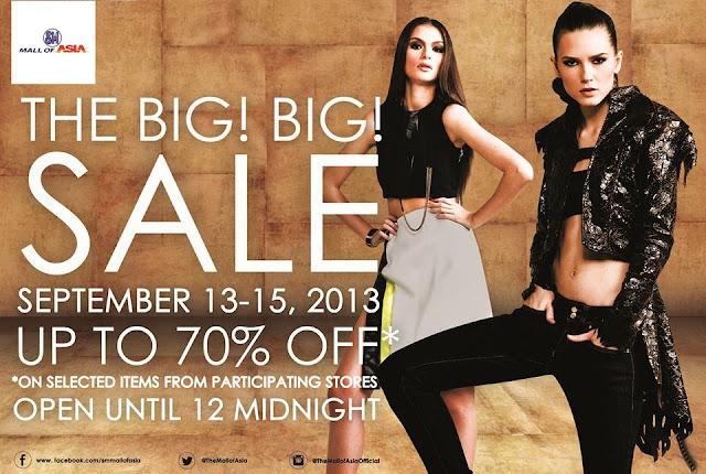 SM MOA 3-Day Sale September 2013