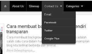 menu bar di blogspot