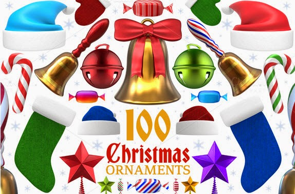 Christmas Ornaments and Items - 3D