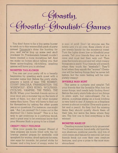 """Garage Sale Finds: 1975 Dynamite """"Monster Bash"""" pg 4 (OKC Craigslist Garage Sales)"""