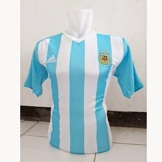 gambar photo kamera Jersey Argentina home terbaru Copa amerika 2015