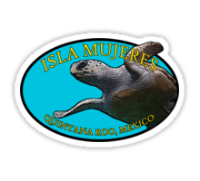 Isla Mujeres Travel Stickers