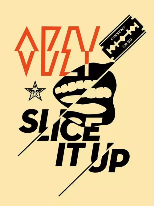 """Slice It Up"" New Screen Print Release by Famed Street Artist Shepard Fairey. 1"