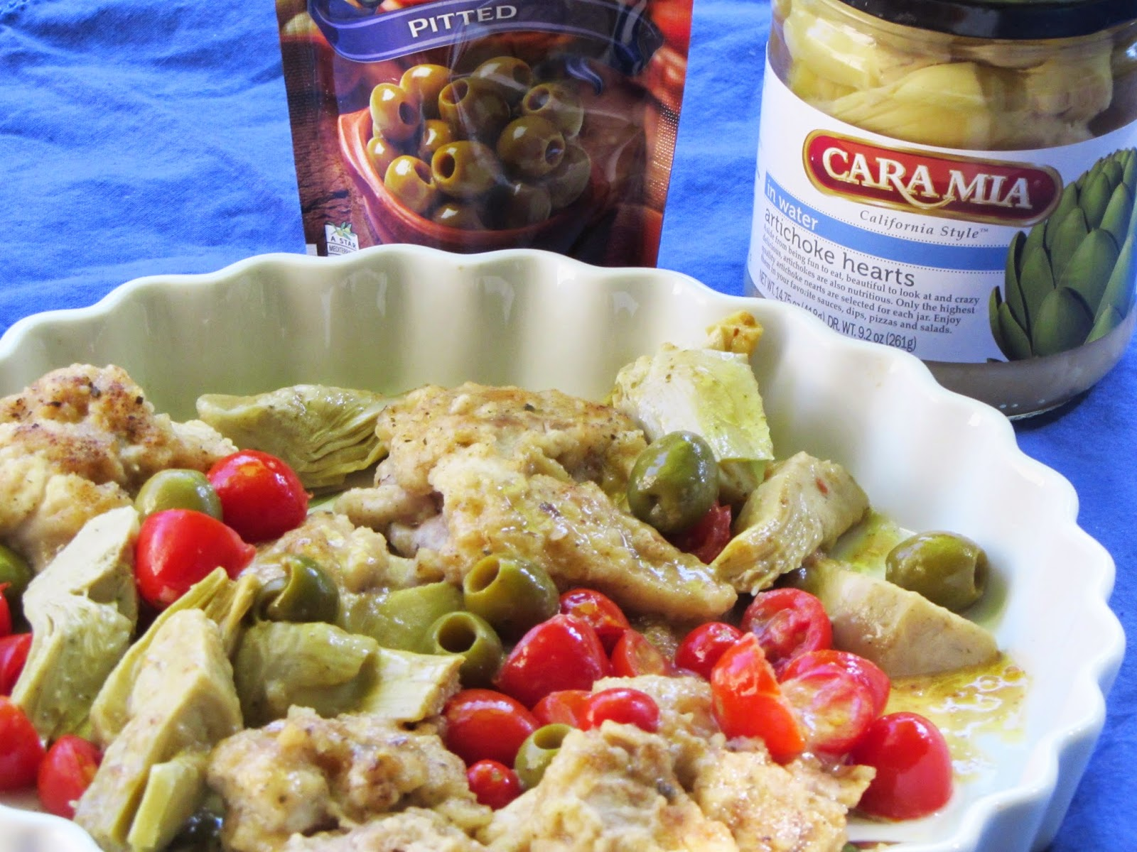 Chicken with Artichokes, Tomatoes and Olives