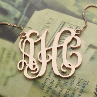Rose Gold Monogram Necklace Collections