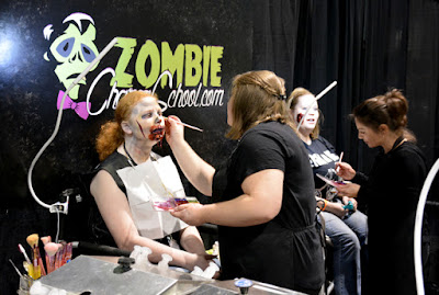 Zombie Makeup at Walker Stalker Con 2015